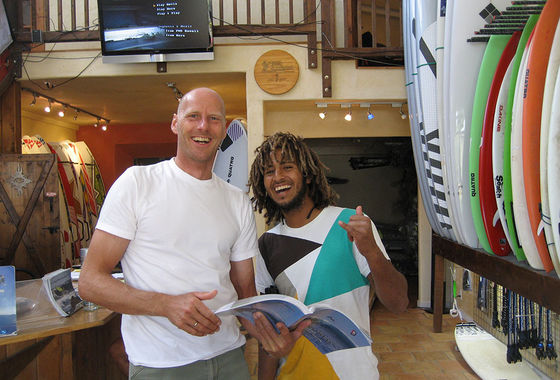 The Kite and Windsurfing Guide, editor Udo Hölker, Windsurfing legend Boujima Goullioul
