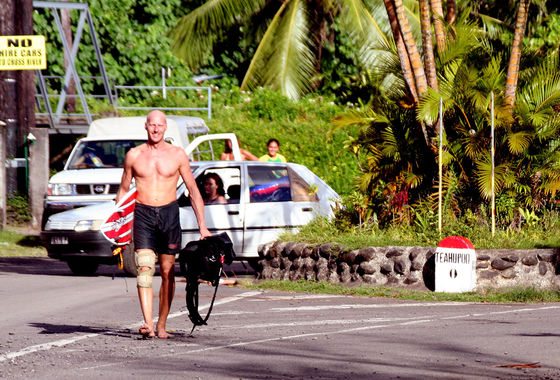 Udo Hölker, Herausgeber der Kite and Windsurfing Guides, Tahiti