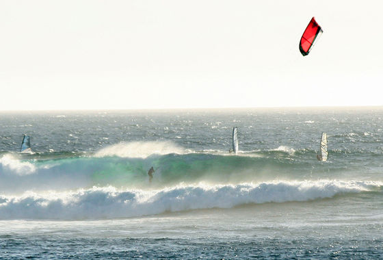Udo Hölker, Herausgeber der Kite and Windsurfing Guides, Big Wave Kitesurfing, Margaret River, Australien