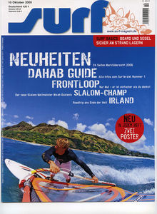 Windsurfing magazine Surf featuring The Kite and Windsurfing Guide