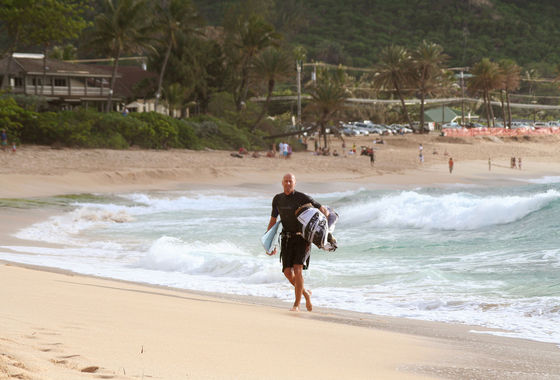 Udo Hölker, Herausgeber der Kite and Windsurfing Guides, Oahu Northshore
