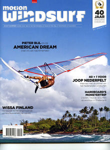 Windsurfing magazine Motion featuring The Kite and Windsurfing Guide