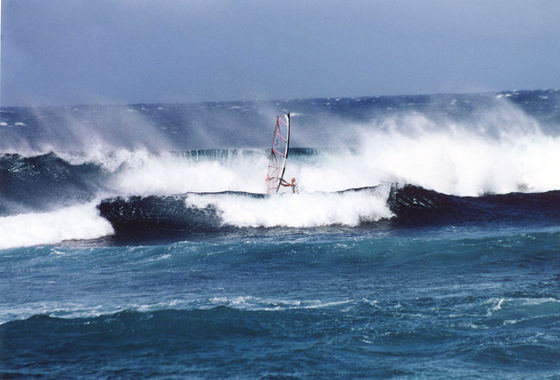 Udo Hölker, Herausgeber der Kite and Windsurfing Guides, Big Wave Windsurfing, Maui Hawaii